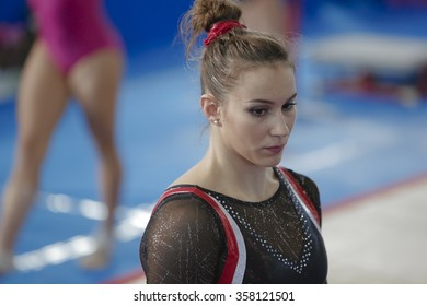 Porto san Giorgio, Italy - September 11 2015: Golden League Cup Carlotta Ferlito Floor