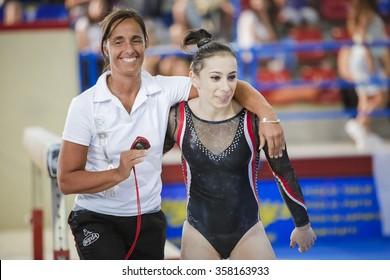 Porto san Giorgio, Italy - September 11 2015: Gymnastic Golden League Cup