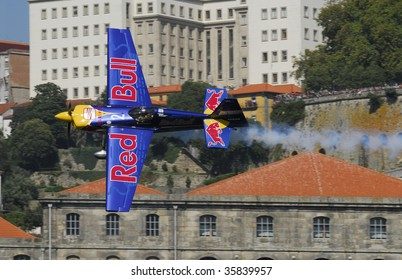 PORTO - SEPTEMBER 1: P. Bonhomme of the UK participates in the event of the Red Bull Air Race in September 1, 2007 in Porto, Portugal.