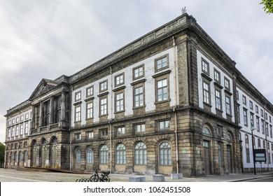 Porto University building (Universidade do Porto). Oporto, Portugal.