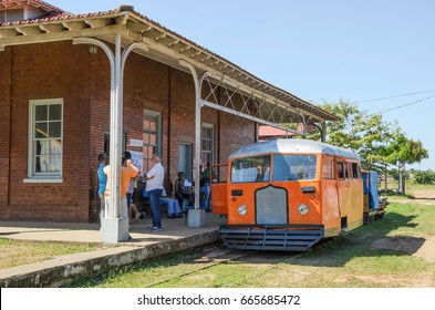 PORTO VELHO, BRAZIL - JUNE 16, 2017: Madeira-Mamore station and the reactivation of the litorina tour on Estrada de Ferro Madeira Mamore railroad in Porto Velho RO.