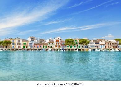 Portocolom houses Mallorca Majorca Spain Baleares Mediterranean Sea