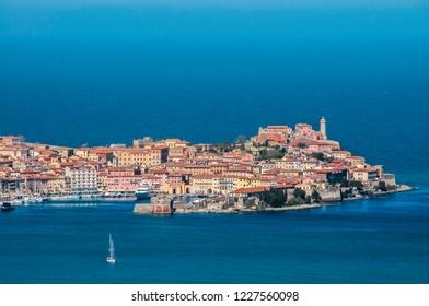Portoferraio from above, Isola d'Elba, tuscany.
