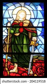 PORTOFERRAIO, ELBA, ITALY - MAY 03, 2014: Saint Michael in the Church of the Holy Sacrament in Portoferraio, Island of Elba, Tuscany, Italy on May 03, 2014