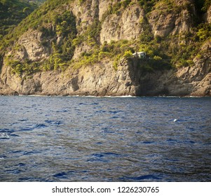 Portofino, Casa del sindaco (mayor's house) overlooking the sea, scuba meeting point and dive site for experienced divers