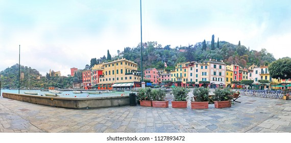 Portofino is an Italian fishing village and holiday resort famous for its picturesque harbour