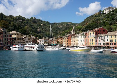 PORTOFINO, ITALY - SEPTEMBER 19 2017 - Vip and tourist in pictoresque village, Portofino is a place known for international tourism and the jet-set lifestyle.