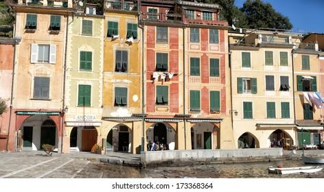 portofino painted houses detail view