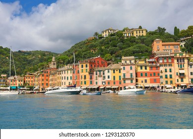 Portofino is a resort town in the Italian Riviera.  This is a popular tourism destination for travel in northwestern Liguria Italy.