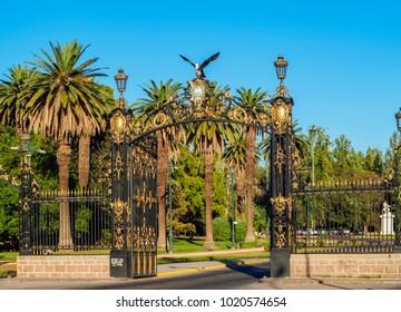Portones del Parque, decorative gate, General San Martin Park, Mendoza, Argentina
