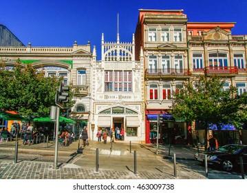 PORTO,PORTUGAL - OCTOBER 21,2012 : Livraria Lello bookstore, Porto, Portugal