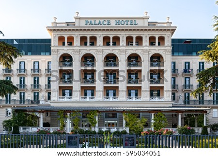 Portoroz Slovenia July 19 2016 Kempinski Stock Photo Edit Now - Palace-hotel-in-slovenia