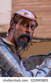 Portrait of an actor, playing Don Quixote de la Mancha