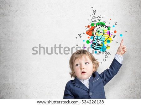 e245f1d96 Portrait Adorable Baby Boy Blue Suit Stock Photo (Edit Now ...