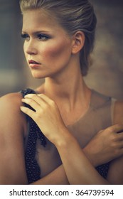 Portrait of an adorable blond woman