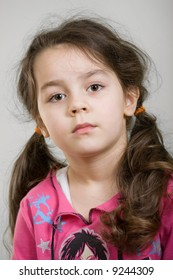 Portrait of an adorable caucasian girl (four years old).
