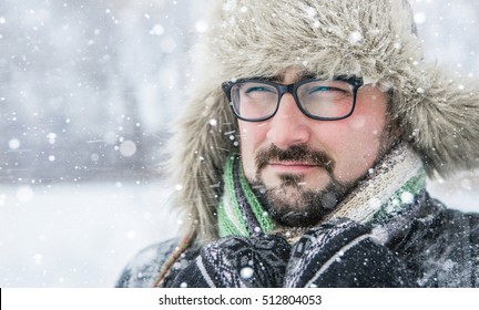 Portrait of an adult male in a fur hat.