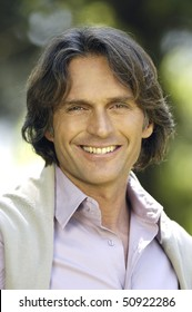 Portrait of an adult man smiling