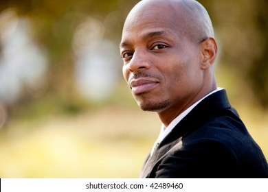 A portrait of an African American business man