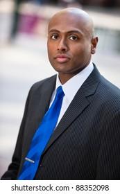 Portrait of an African American businessman