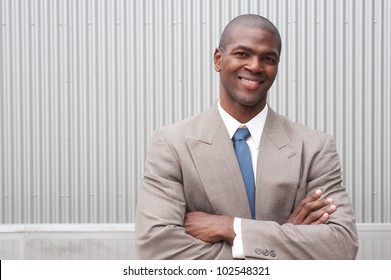 portrait of an African American businessman taken on location