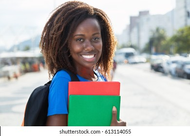 Portrait of an african american female student