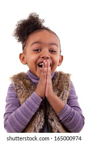 Portrait of an african american little girl, over white background - Black people