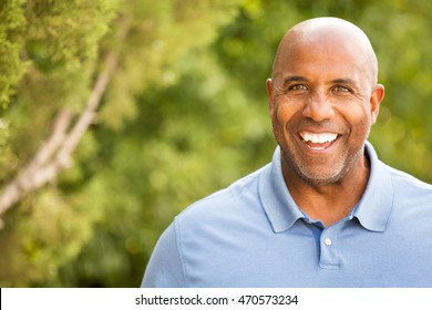 Portrait of an African American Man Outdoors