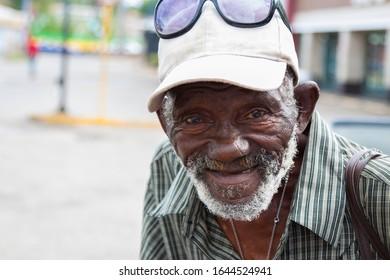 Portrait of an African American Senior Citizen living in Jamaica.