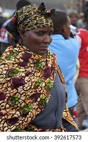 Portrait of an African woman at Karatu Iraqw Market, Tanzania. / The market happens on the 7th day of each month. / Photo taken on October 7th, 2015, Karatu, Tanzania.