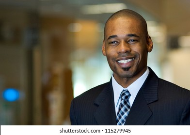 Portrait of an african-american businessman in office