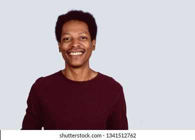Portrait of Afro American man looking at camera on studio.