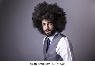 Portrait of a Afro man