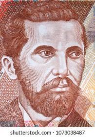 portrait from Albanian money
