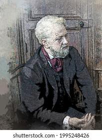 Portrait of Alexandre Gustave Eiffel -(15 December 1832 – 27 December 1923) - built the Eiffel Tower in Paris