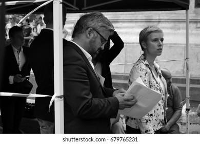 Portrait Of Alexis Corbire And Clmentine Autain French Deputies La France Insoumise