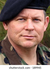 portrait of an american army soldier