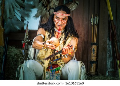 portrait of Americans Indian man.native Americans