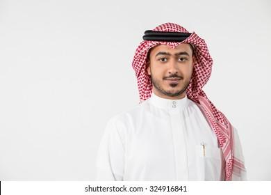 Portrait of Arab man