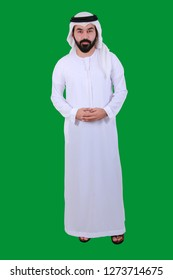 Portrait Of An Arab Man Standing Tall Welcoming And Smiling