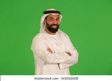 Portrait of arab man in studio