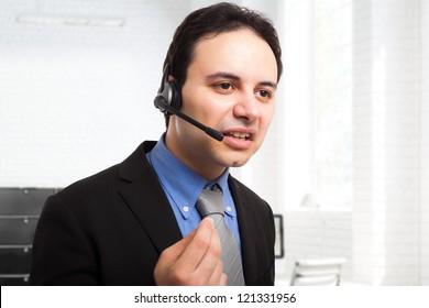 Portrait of an arrogant employee at work