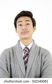 Portrait of arrogant young man