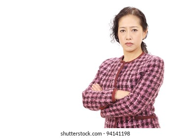 Portrait of a asian business woman with arms crossed
