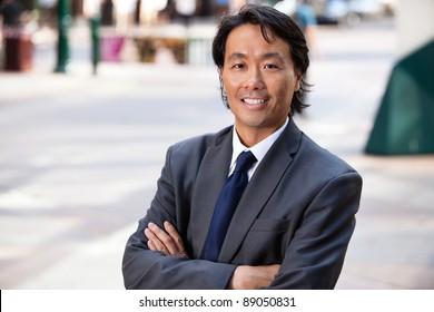 Portrait of an Asian businessman smiling