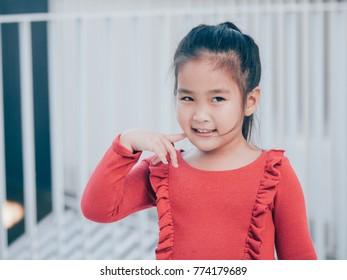 Portrait Asian little girl