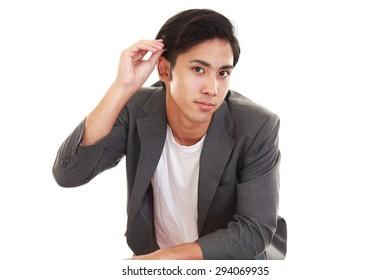 Portrait of an Asian man
