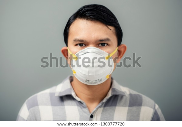 edit Mask Photo Asian Stock Wearing Man 1300777720 Portrait N95 Now
