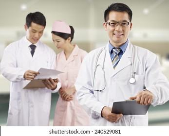 portrait of an asian medical team.
