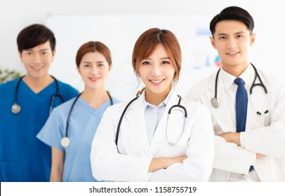 Portrait of asian medical team, doctors and nurses.